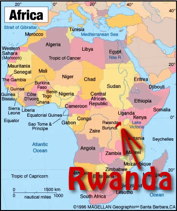 Map Of Rwanda Africa Map Of Africa
